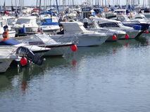 Red nose day boats Stock Images