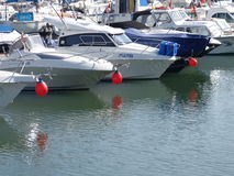 Red nose day boats Royalty Free Stock Photos