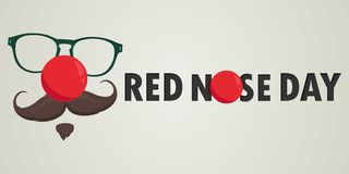 Red Nose Day Vector Card. Vector illustration. vector illustration