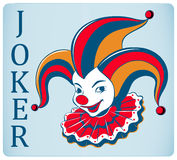 Red nose joker card Stock Photos