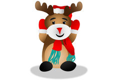 Red nose reindeer Royalty Free Stock Photography