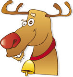 Red nose reindeer. Illustration of happy christmas red nose reindeer Royalty Free Stock Images