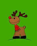 Red nose Rudolph. Rudolph The Red-nosed Reindeer Stock Photography