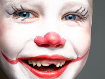 Red nose and smile Royalty Free Stock Image