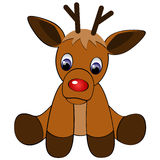 Red-Nosed Reindeer Stock Photo