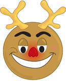 Red Nosed Reindeer. Smiley type red nosed reindeer royalty free illustration