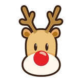 Red nosed reindeer Stock Image