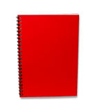 Red note book isolated with shadow Royalty Free Stock Images