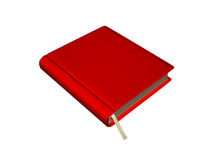 Red note book isolated on white Stock Images