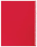 Red note paper, single sheet of blank torn jotter notebook background texture, large detailed vertical isolated copy space Stock Photo