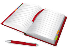 Red notebook Royalty Free Stock Image