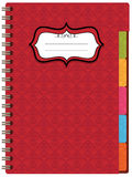 Red notebook Stock Photos