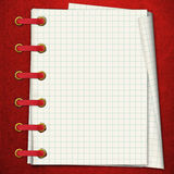 Red notebook. Royalty Free Stock Photography