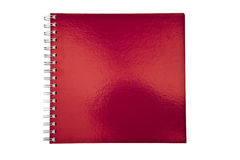 Red notebook Stock Image