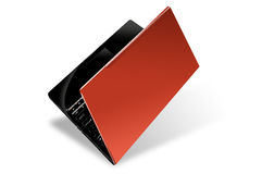 Red notebook. A red notebook isolated on white background