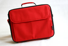 Red notebook bag Stock Images