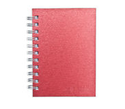 Red Notebook Isolate Royalty Free Stock Image