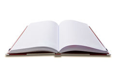 Red notebook isolated Royalty Free Stock Images