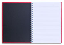Red notebook isolated Stock Photography