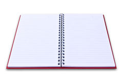 Red notebook isolated Stock Image