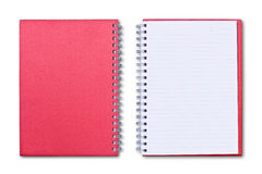 Red notebook isolated Stock Photos