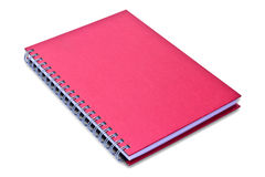 Red notebook isolated Stock Photo