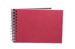 Red notebook isolated on white. Background Stock Image