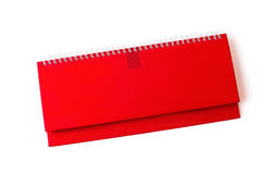 Red notebook isolated on white background Royalty Free Stock Photo