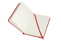 Red notebook open Royalty Free Stock Photography