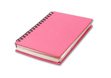 Red notebook on white Royalty Free Stock Image