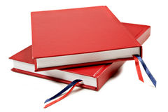 Red notebooks Royalty Free Stock Photography