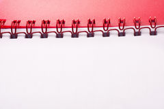 Red notepad Royalty Free Stock Images