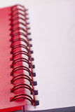 Red notepad Stock Photo