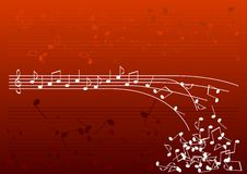 Red notes. White notes on the red background Royalty Free Stock Images