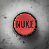 Red Nuke Button Royalty Free Stock Photo