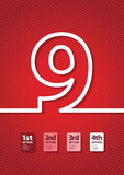 Red number background Royalty Free Stock Photo