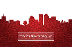 Red number cityscape background Stock Photos