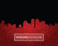 Red number cityscape background Royalty Free Stock Photos