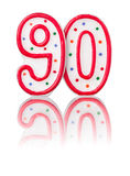 Red number 90 Stock Photo