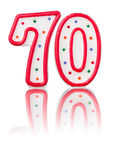Red number 70 Stock Photography