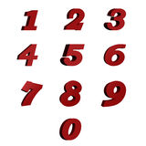 Red numbers Royalty Free Stock Images
