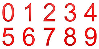 Red numbers (mesh) Royalty Free Stock Images