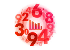Red numbers Royalty Free Stock Photography