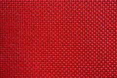 Red Nylon Fabric Pattern Texture. Royalty Free Stock Images