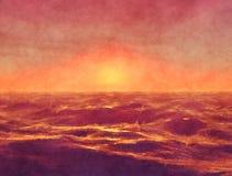 Red Ocean Stock Photo
