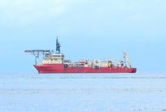 Red ocean ship Stock Photos