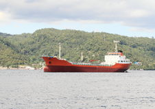 Red ocean ship Stock Image