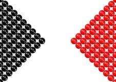 Red och black Arkivfoton
