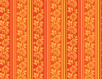 Red och guldwallpaper stock illustrationer