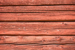 Red ocher painted timber wall Royalty Free Stock Photo